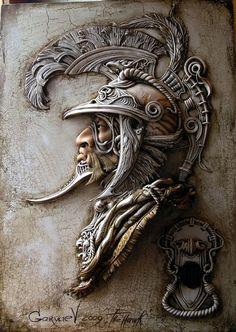 Виктор Горяев. Декоративное панно из керамики.