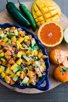 Citrus, Mango, and Avocado Salsa. This salsa pairs my two favorite fruits in combination with some delicious citrus that really makes this salsa pop with a sweet and tangy flavor and a spicy kick. This tropical salsa is great served as an appetizer with tortilla chips and is a game changer topped on grilled chicken, pork, or seafood. Spoon it over pan-fried tilapia or just set it out as an appetizer with tortilla chips and watch it disappear.