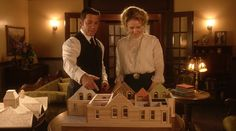 From 9x07: Murdoch (Yannick Bisson) shows Ogden (Hélène Joy) his model dream home he wants to build for them.