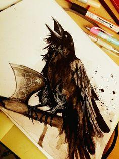 Odin's Raven by adlibber