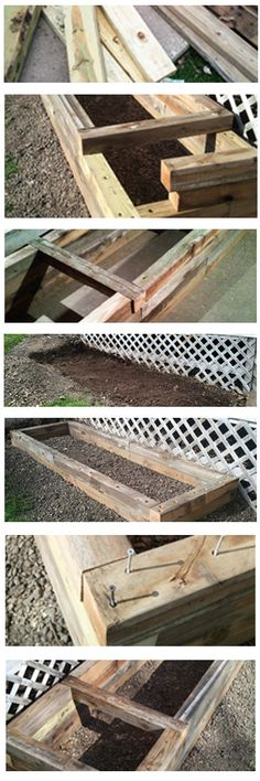 The Garden Box Project: Build a garden planter box by recycling lumber from sections of a fence that was replaced over the past several years. #garden #outdoors #gardenbox