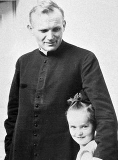 Picture of Pope John Paul II then the young priest Karol Wojtyla poses with an unidentified girl in Poland The 84 year old pontiff is reported to be in very grave condition after suffering heart failure on. Paul 2, Pope John Paul Ii, Catholic Saints, Roman Catholic, Papa Juan Pablo Ii, Religion Catolica, Saint Esprit, Sainte Marie, Papa Francisco