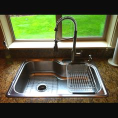 Easy kitchen update...new sink and fixture