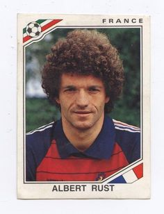 panini sticker mexico 86 world cup france 1986 albert rust #181 from $1.45