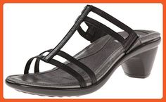 Naot Women's Loop Wedge Sandal, Black Raven Leather, 40 EU/8.5-9 M US - Sandals for women (*Amazon Partner-Link)