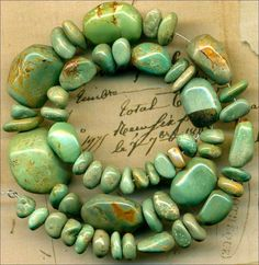 Mexican Campo Frio TURQUOISE Mine Beads Graduated Strand~Natural~Genuine~7-20mm