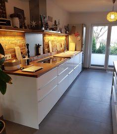 Küchen Design, Interior Design, Corner Desk, Kitchen Decor, Sweet Home, Table, House, Furniture, Ikea Hacks