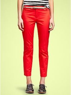 Gap slim cropped pants in vermillion - I wil wear you in the spring with flats and pretty blouses