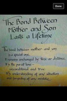 Mother Son bond