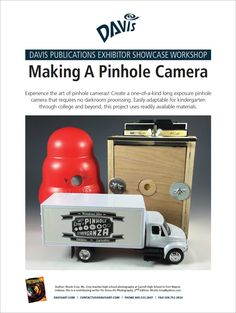 Experience the art of pinhole cameras. Create a one-of-a-kind long exposure pinhole camera that requires no darkroom processing. This lesson is easily adaptable for kindergarten through college and beyond using readily available materials. Download the PDF here and learn more in the second edition of Focus on Photography.