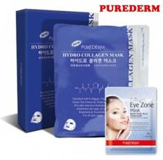 PUREDERM Hydro Collagen Mask Skin Care 2Pack 50Sheets Eye Zone 1Pack 30Sheet #Purederm