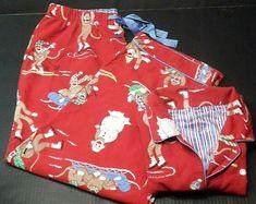 Nick & Nora Women's Winter Sock Monkey Pajamas Pants Set, size XXL  ~ ~~shop over 650 items in 29 categories of merchandise in my store. I ship globally www.shellyssweetfinds.com #womenssleepwear #womenspajamas #nicknora #nickandnora  #sockmoneys #womensintimates #PajamaSets