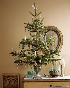 for a smaller decoration tree I would stick to one or two types of ornaments