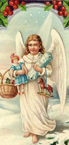 angel with toys.