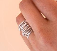 /././. silver rings /././.