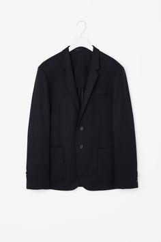 Wool flannel blazer
