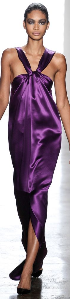 CUSHNIE ET OCHS Spring RTW 2014-LOVE this shade of my favorite color...PURPLE!!!