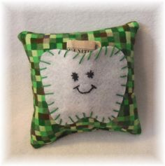 Tooth Fairy Pillow Handmade Tooth Pillow Tooth by MaricoleDesigns
