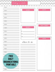 Free Daily Planner Page | jennycollier.com