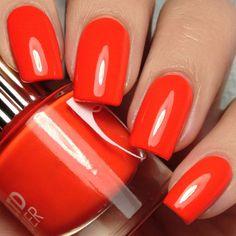 Fast Lane Nail Polish (410 MXN) ❤ liked on Polyvore featuring beauty products, nail care, nail polish, nails, neon nail polish and fluorescent nail polish