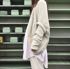 white knit and cotton