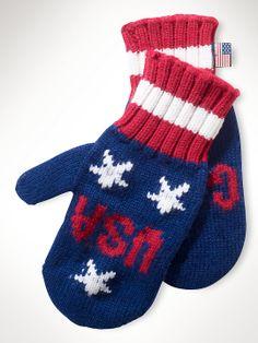 Team USA Go for Gold Mittens - Sochi Olympics - Ralph Lauren