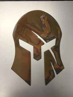 Woodworking Projects That Sell, Diy Wood Projects, Wood Crafts, Metal Artwork, Metal Wall Art, Wood Art, Spartan Helmet, Spartan Race, Wood Carving Patterns