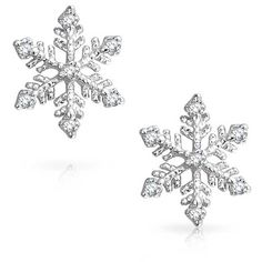 Bling Jewelry Ice Queen Studs (81 RON) ❤ liked on Polyvore featuring jewelry, earrings, snowflake jewelry, snowflake stud earrings, studded jewelry, snowflake earrings and stud earring set