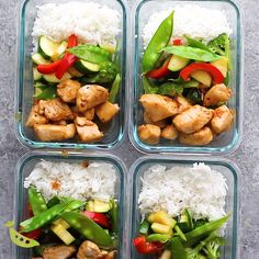 Maple ginger chicken meal prep lunch bowls are made ahead on the weekend so you have four delicious lunches waiting for you! Maple ginger chicken meal prep lunch bowls are made ahead on the weekend so you have four delicious lunches waiting for you! Lunch Meal Prep, Meal Prep Bowls, Healthy Meal Prep, Dinner Healthy, Lunch Box Meals, Meal Prep Freezer, Meal Box, Healthy Nutrition, Chicken Meal Prep