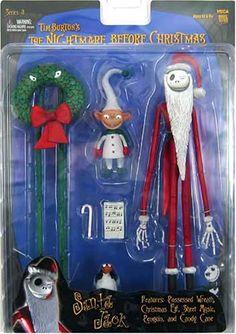 amazoncom neca tim burtons the nightmare before christmas series 3 action figure santa - Nightmare Before Christmas Action Figures
