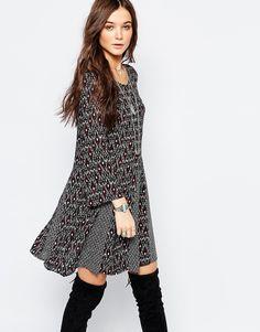 Image 1 ofPimkie Printed Swing Dress
