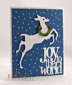 Create With Me: A lovely Christmas card made using Tim Holtz Alterations dies and a Pinked Edge Circle Nestability