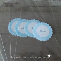 Bolsas personalizadas para chuches del bautizo de Iñigo. #Bautizo
