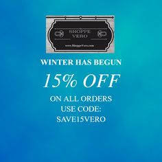 SAVE 15% ON ALL ORDERS. ENDS JANUARY 31.