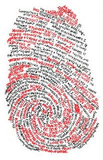 daniel eatock ...personal fingerprint/narrative self portrait idea