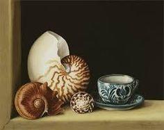 still life artists - Google Jenny Barron.co.uk Still life with Nautilus watercolor 320x240mm