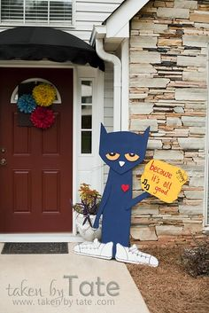 Seriously!?! I want this. Actually, I want two. {one for the house & one for the classroom} On another note, too bad our children have outgrown this sort of party because this mom put together a STELLAR Pete the Cat themed party! I might just throw one for myself next May! :D