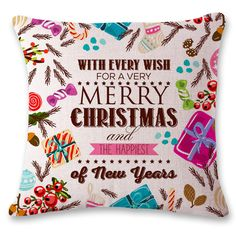 Ouneed Vintage Christmas Sofa Bed Home Decor Pillow Case Cushion Cover oct1021 Extraordinary #Affiliate