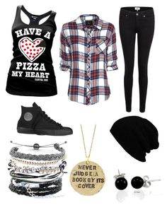 Bored by briannanmartinez on Polyvore featuring polyvore, fashion, style, Rails, Paige Denim, Converse, Domo Beads, Alisa Michelle, Bling Jewelry and clothing