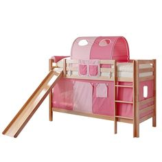 Etagenbett Lupo I - Rosa / Pink - Buche, Ticaa Jetzt bestellen unter: https://moebel.ladendirekt.de/kinderzimmer/betten/etagenbetten/?uid=1d583c17-cfe1-5c3f-af56-5dfc48635fd3&utm_source=pinterest&utm_medium=pin&utm_campaign=boards #möbel #etagenbetten #kinderzimmer #teens #betten #ticaa #kids