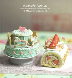 :: Crafty :: Clay ::☃ Christmas ☃:: Cakes - Nunu's House