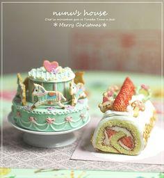 *メリーゴーランド* - *Nunu's HouseのミニチュアBlog* 1/12サイズのミニチュアの食べ物、雑貨などの制作blogです。