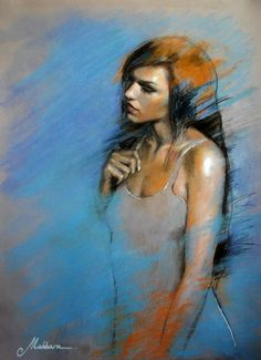 Giorgi Makharashvili Giorgi (George) Makharashvili was born on in Tbilisi (Georgia). Soft Pastel Art, Pastel Artwork, Pastel Drawing, Woman Painting, Figure Painting, Pastel Portraits, Portrait Art, Portrait Paintings, Oil Paintings