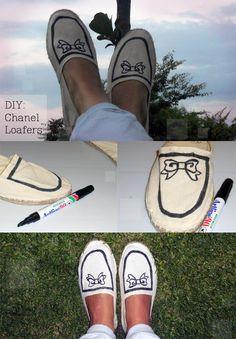 DIY Chanel Loafers DIY Shoes DIY Refashion