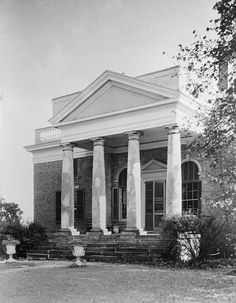 Bremo, HABS, Bremo Bluff. City: Bremo Bluff Date: around 1808-45. Architect: General Hartwell Cocke County: Fluvanna