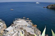 O icónico Conca del Sogno é acessível somente por barco.  Foto cedida por Conca…