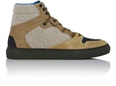 BALENCIAGA Mixed-Material High-Top Sneakers. #balenciaga #shoes #sneakers