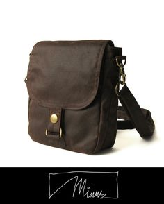 Brown Waxed Canvas Hipster Plus - Hipster, Hip Bag, Hip Pouch, Hipster Bag, Belt Hip Bag, on Etsy, $60.00