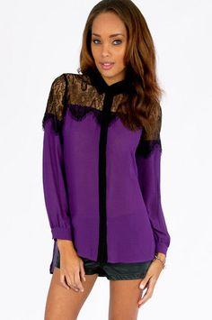 Queen Vic Button Up Shirt $48 at www.tobi.com