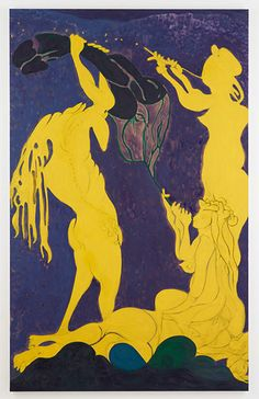 Credit: Courtesy the artist and Victoria Miro Gallery, London Ovid – Actaeon, by Chris Ofili (2011-2012), is yet another utterly different a...